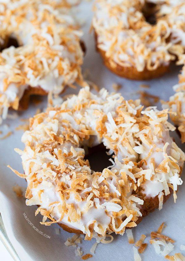 Triple coconut donut