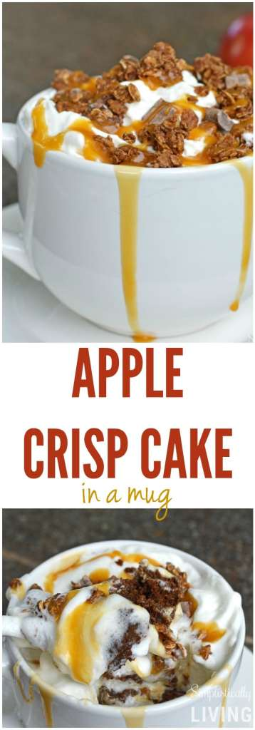 Apple Crisp Cake in a Mug