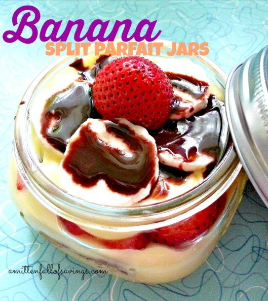 Banana Split Parfait Jars Recipe