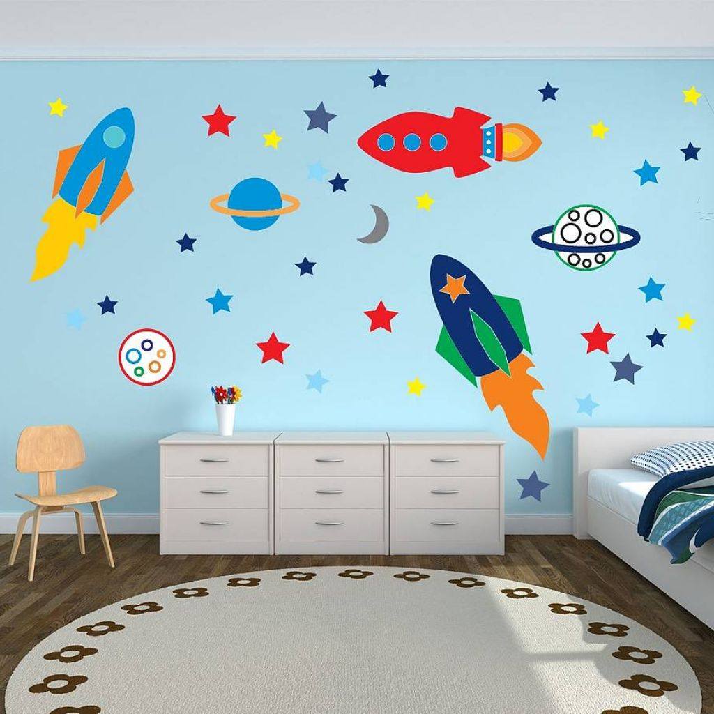 Kids room decor tips and tricks from my sister for Boys room wall mural