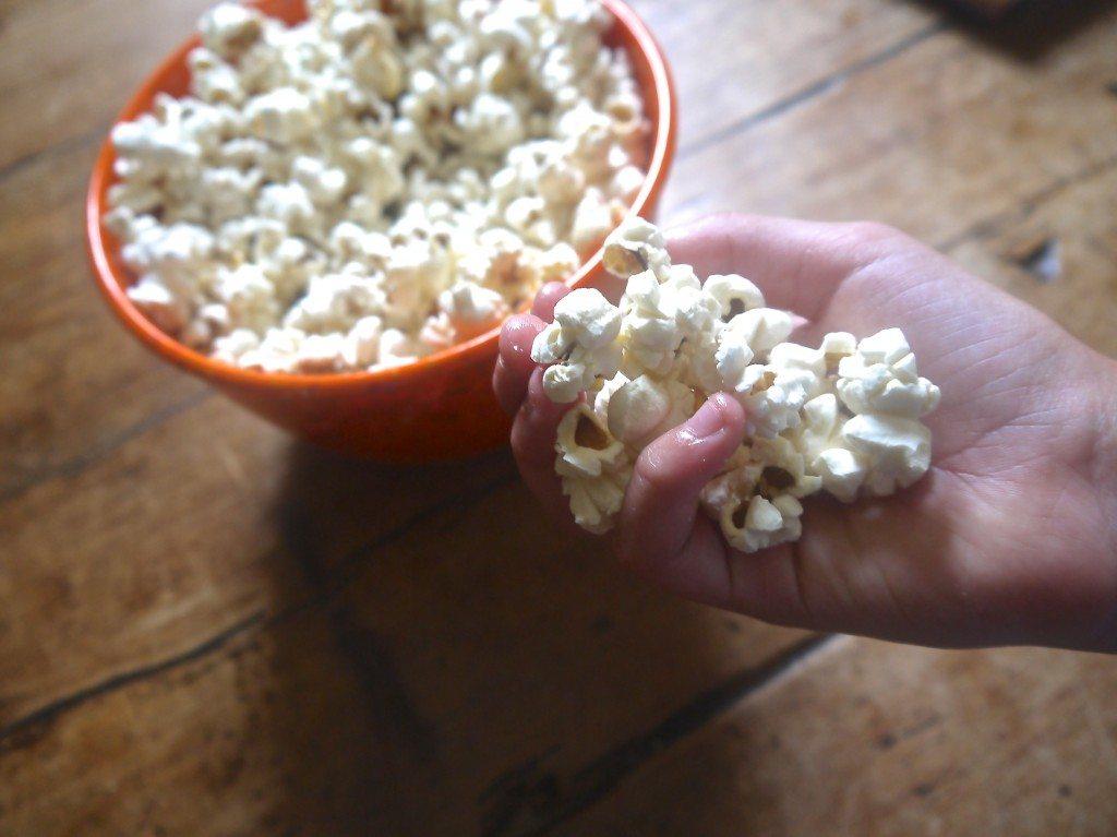 14 home made popcorn