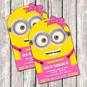 minions printable invitations