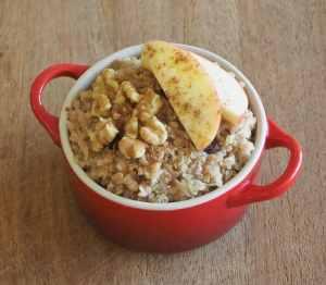 Apple and Raisin Quinoa Porridge