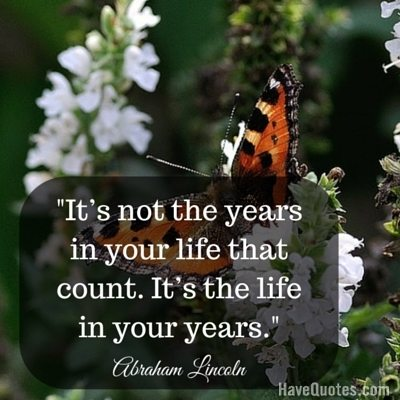 life years quote