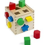 Melissa & Doug Shape Sorting Cube – Classic Wooden Toy With 12 Shapes