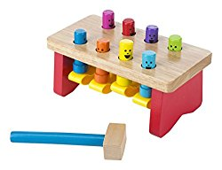 Melissa & Doug Deluxe Pounding Bench Wooden Toy With Mallet