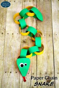 How to make paper chain snake