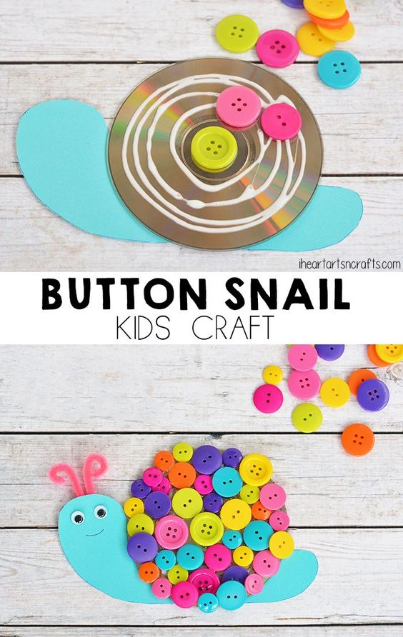 Button Snail Craft For Toddlers