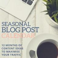 Blog Post Seasonal Topic Calendar