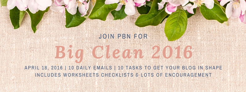 Join the PBN 'Big Clean 2016'