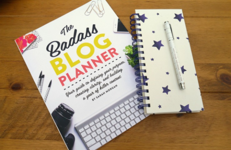 The badass blog planner by Sarah Morgan