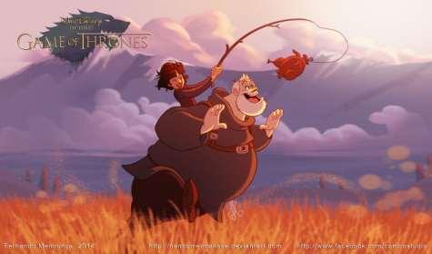 Disney Game of Thrones : Bran et Hodor