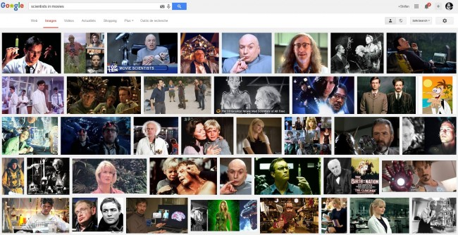 scientists in movies by google images