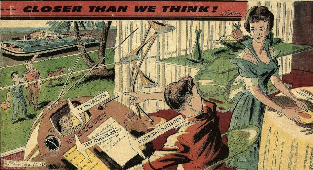 Années 60 : le bureau informatique éducatif à domicile