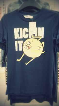 "T-Shirt enfant Adventure Time Jake ""Kickin it"""