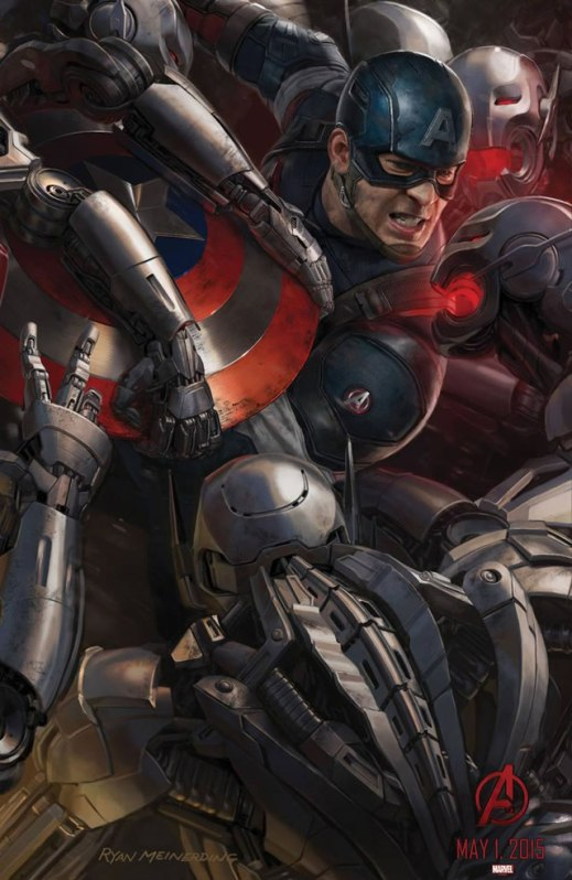 Avengers Age of Ultron - Affiche Captain America