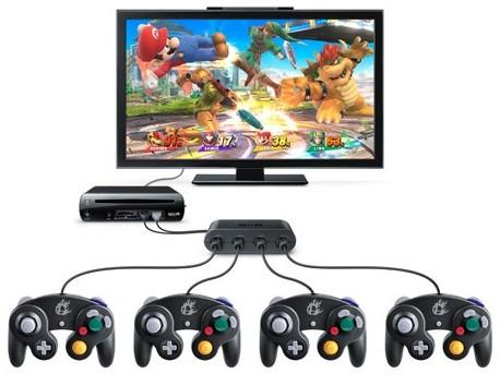 Super Smash Bros Wii U et ses manettes GameCube