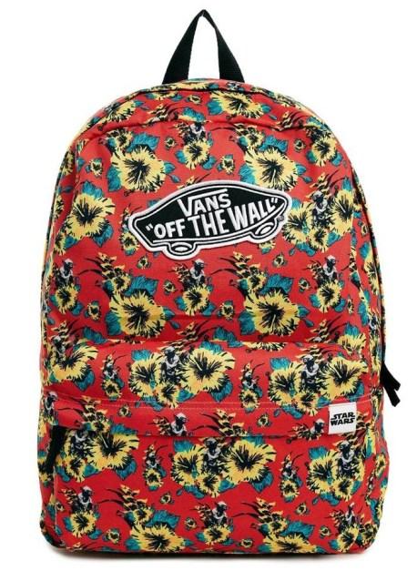 sac vans yoda fleurs rouge