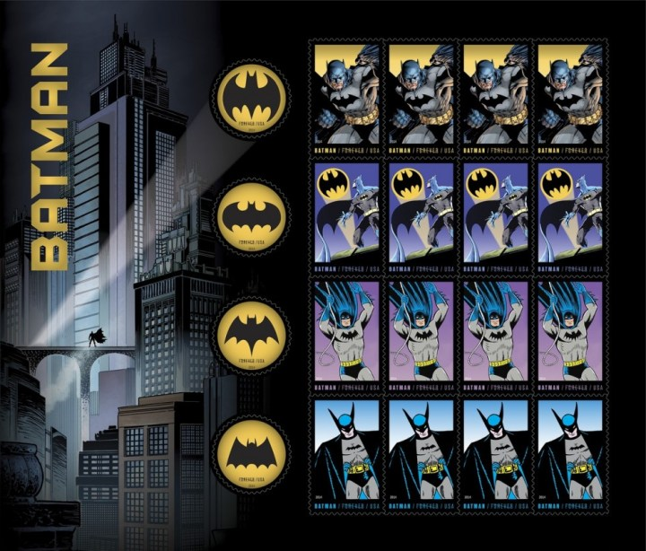 Batman USPS Stamps