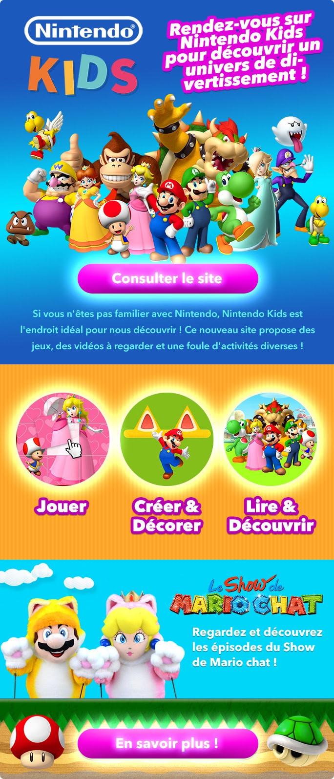 Nintendo Kids Jeux Coloriages Activités Avec Les Stars