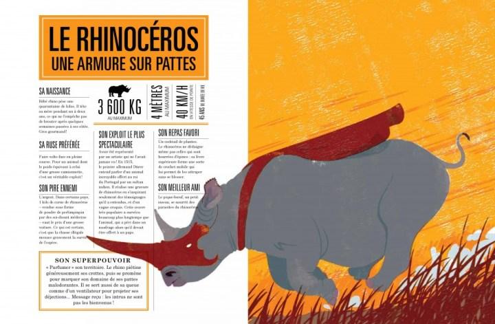 Le rhinocéros - Armure sur pattes