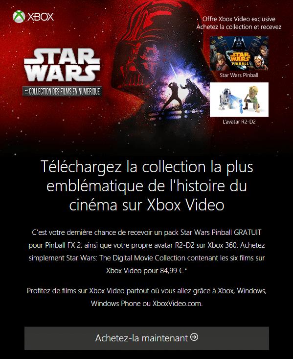 Procurez-vous la collection Star Wars complète sur Xbox