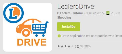 Appli Leclerc Drive