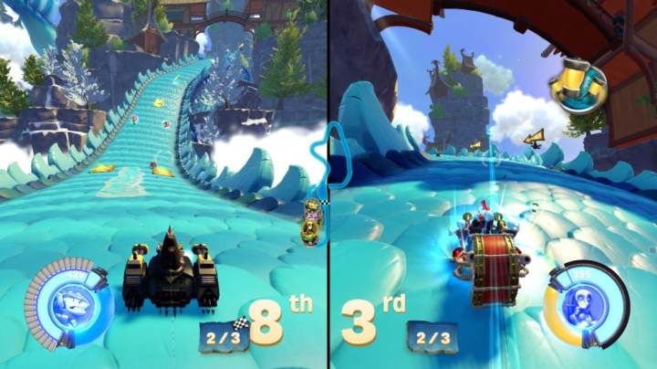 Course Split Screen Skylanders SuperChargers