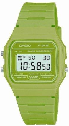 Casio F91W Verte