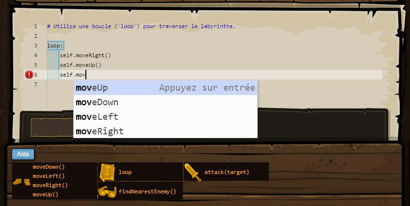 Code Combat - Saisie