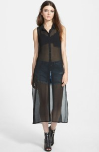 night out sheer tunic
