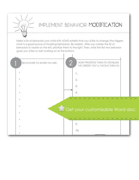 Implement Behavior Modification Form, Customizable
