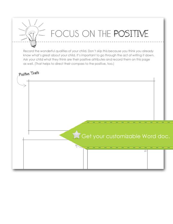 Focus on the Positive, customize