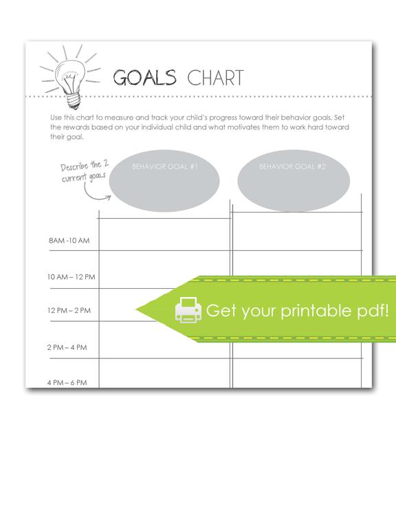 goals chart, print