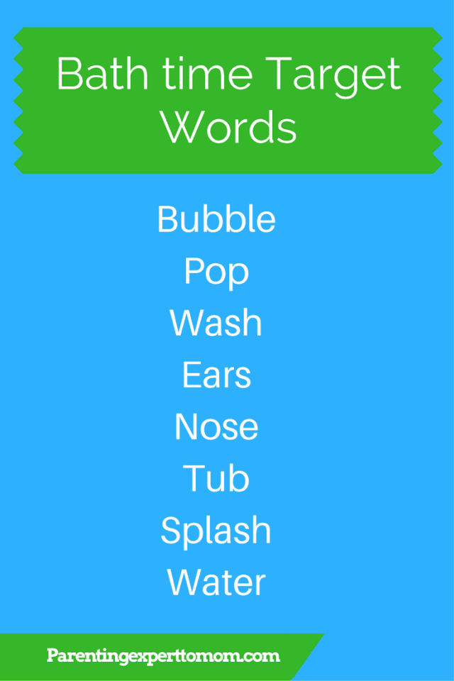 Bath time Target Words