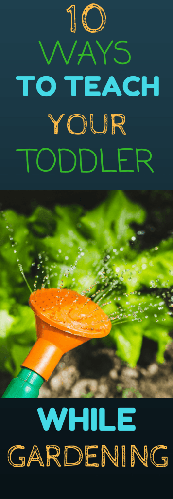 10 Ways to Teach Your Toddler While Gardening