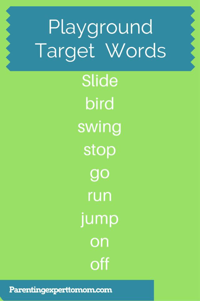 Playground Vocabulary Target List