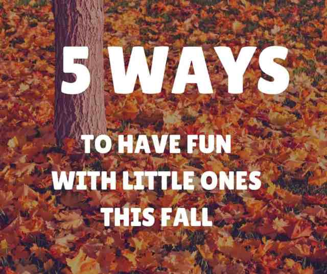 5 Ways to Have fun this fall with little ones