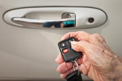 Elderly Driver Holding Car Keys