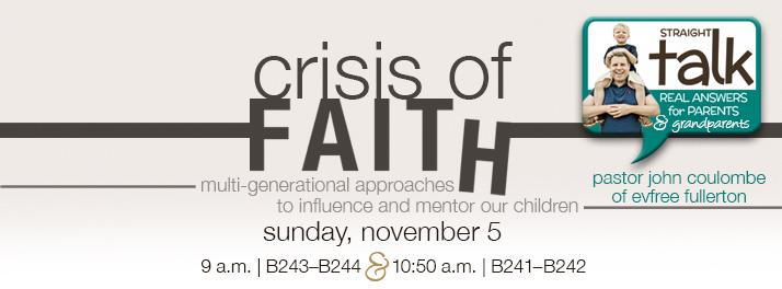 Straight Talk Crisis of Faith
