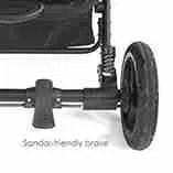 Sandal friendly brake