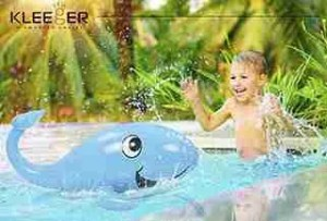 Kleeger-Kids-Water-Sprinkler-Toy-Giant-Inflatable-Whale-Sprinkler,-Attaches-To-Garden-Hose