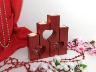 Heart Candle Pillars for Valentine's Day