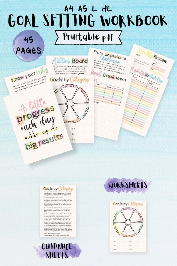 Goal Setting Printable Pages