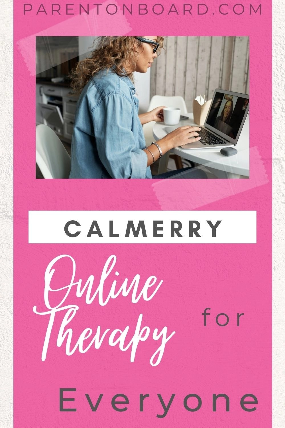 Calmerry Online Therapy Pin