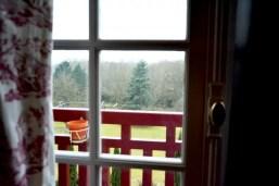 Saint-Valentin en famille, vue de la chambre familiale sur le jardin