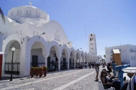 ville de fira île de Santorin