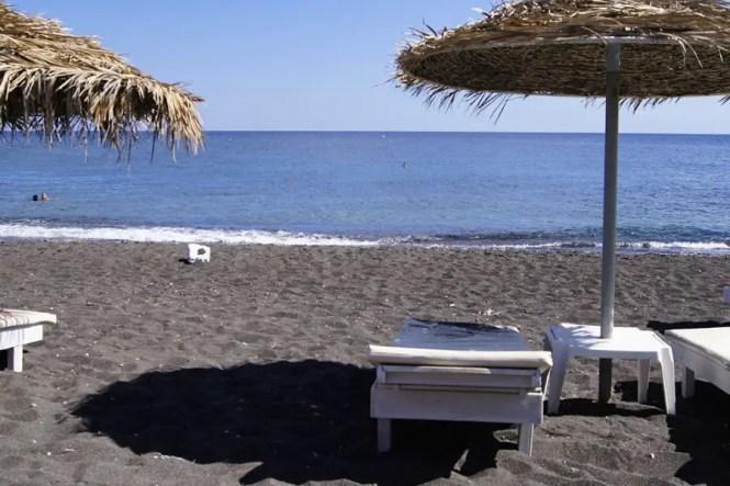 plage de perissa île de Santorin