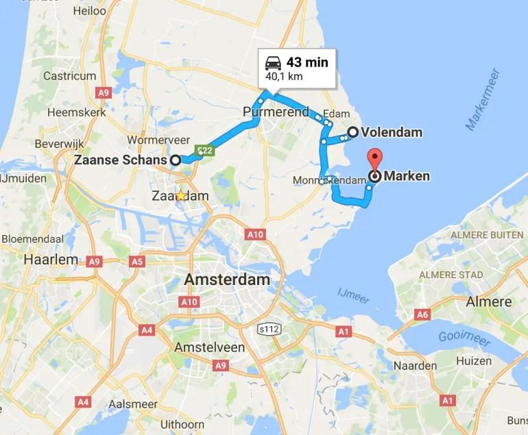 Road-trip aux Pays-Bas en famille : Les moulins de Zaanse Schans et les villages de pêcheurs paysbas en famille zaanse chans volendam marken