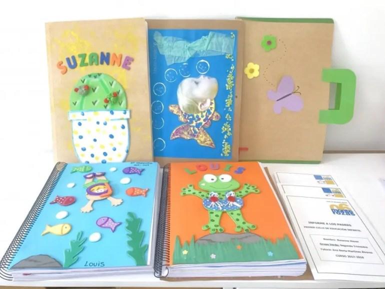 rentrée scolaire en Espagne ensembles des travaux effectués par les enfants dans leur école espagnole